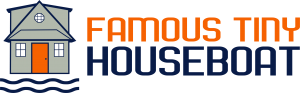famous tiny houseboat logo with transparent background